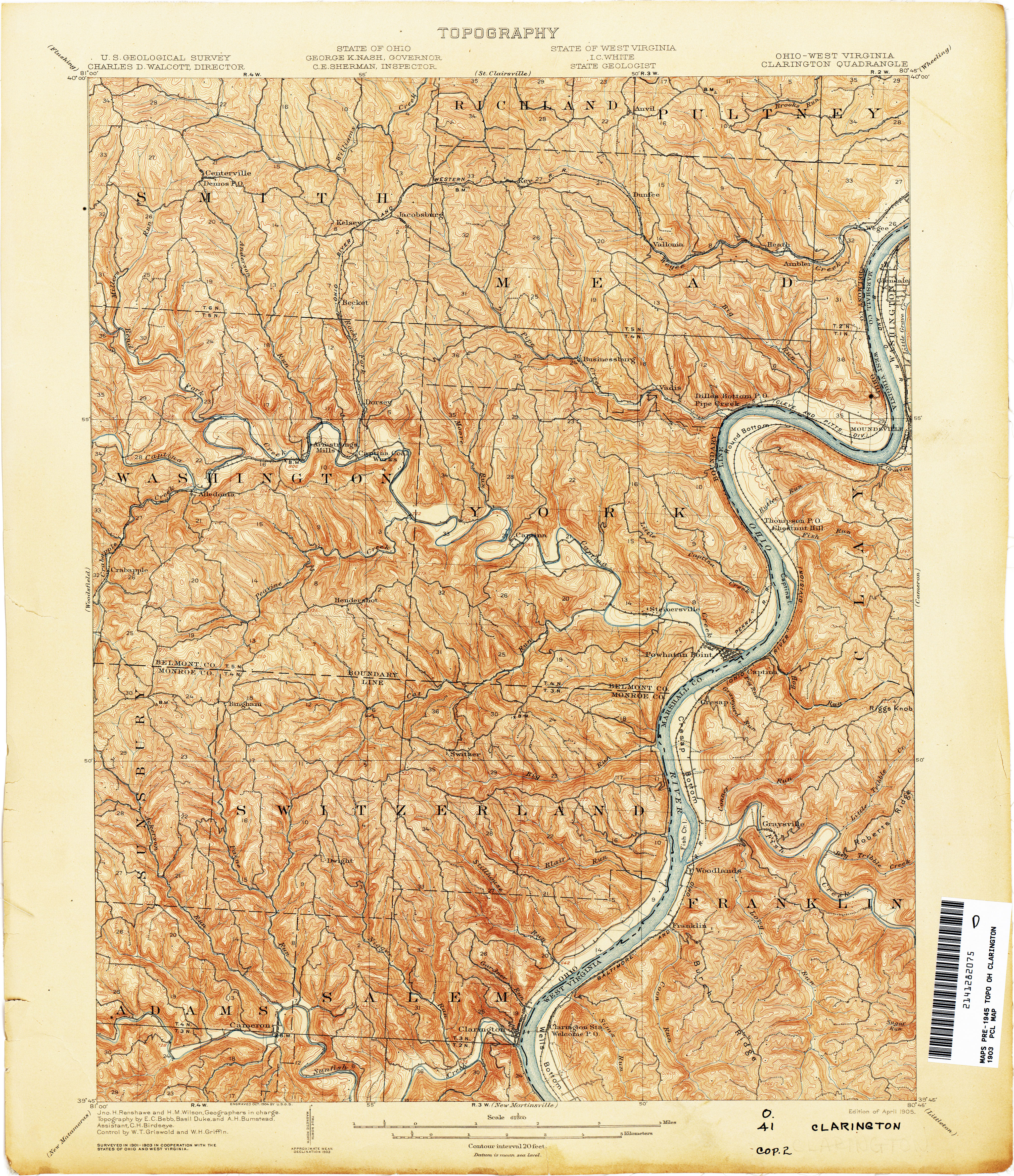 USGS Quad Maps To Belmont County Engineer - Usgs quad maps