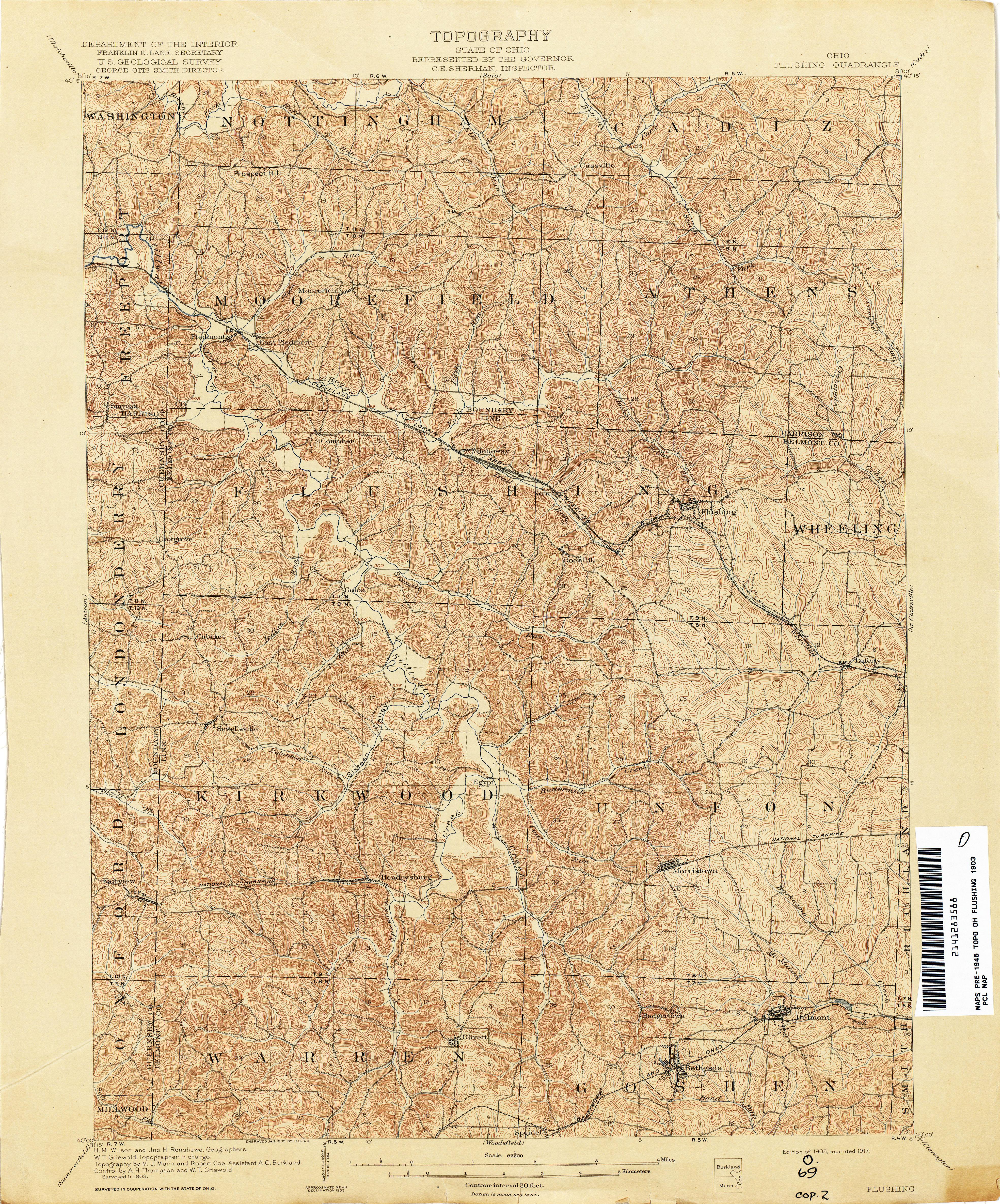 Ohio belmont county flushing - Flushing Quad 1903