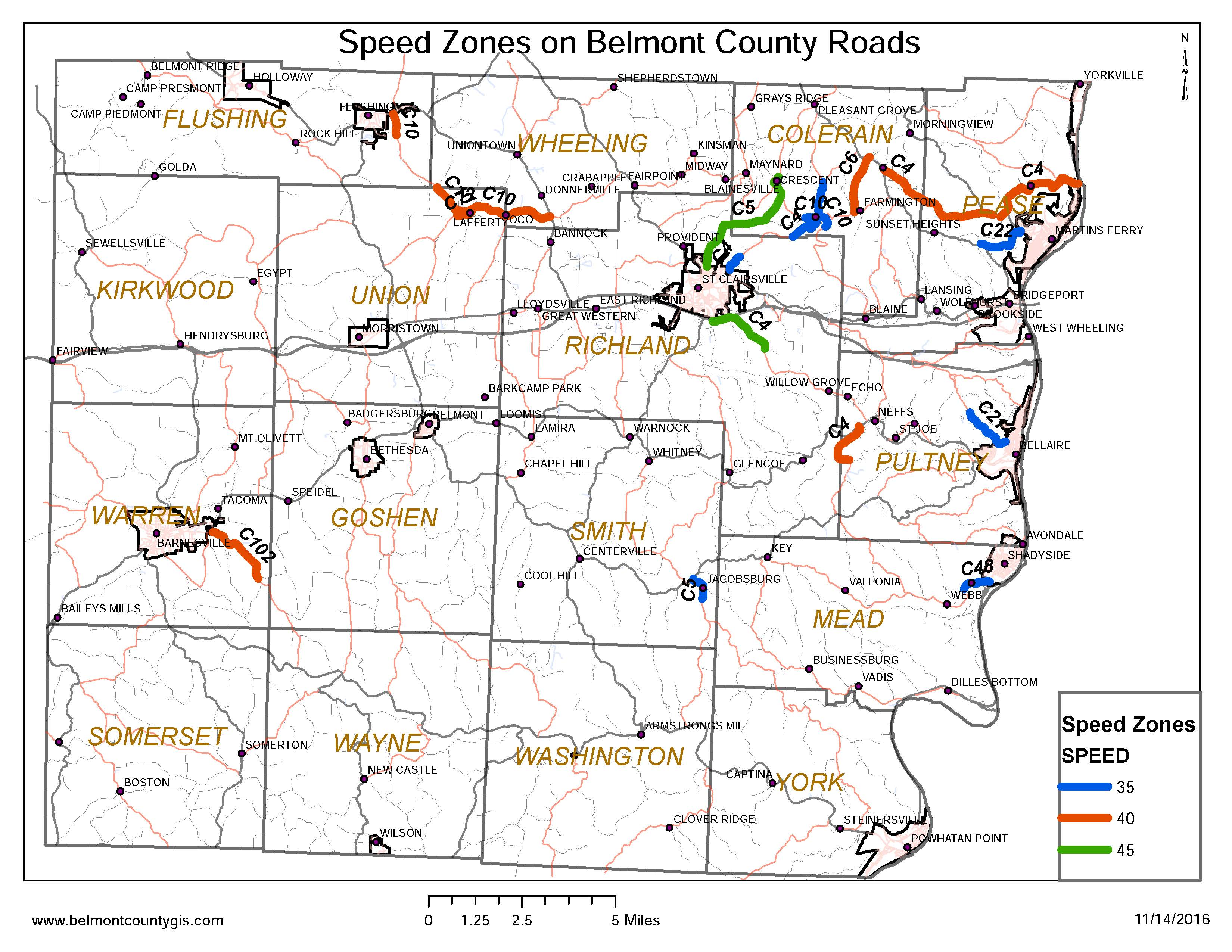 Belmont County Engineer - Ohio road map